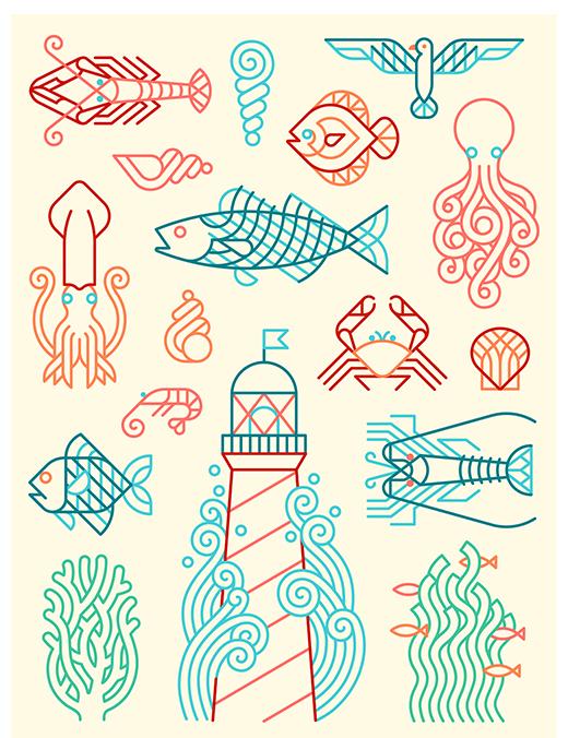 Marine motifs